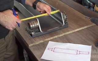 Электротрубогиб для сгибания профильных труб и уголков