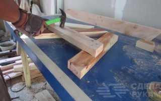 Раскладной деревянный стол-лавка своими руками