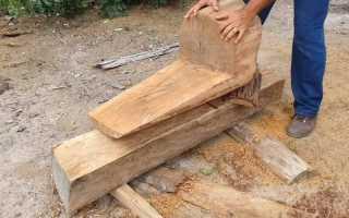 Как сделать стул-кресло из бревна