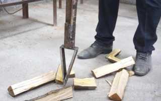 Самодельный ручной колун для колки дров