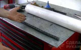 Походный мангал из мотоциклетной цепи и металлолома