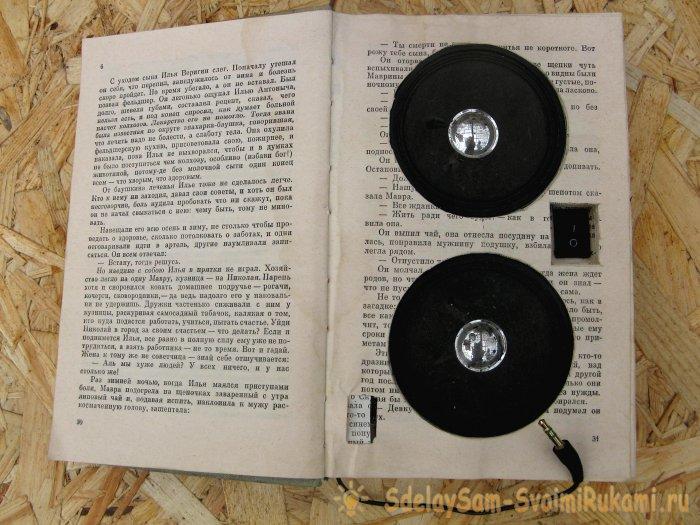 Колонка в книге своими руками