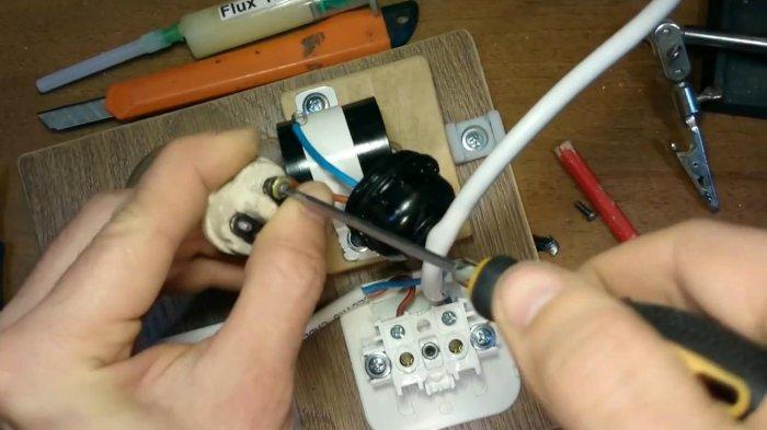 Розетка с защитой от КЗ для ремонта приборов на 220 В