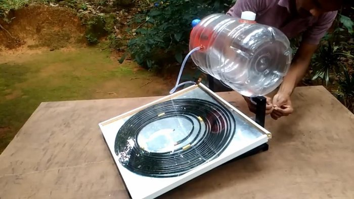 Как сделать солнечный водонагреватель