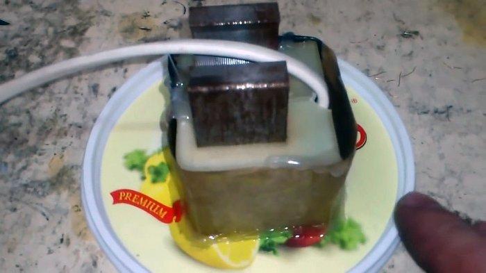 Погружной насос из помпы стиральной машины