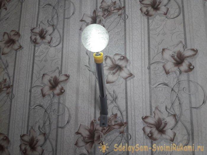 Яркий автономный светильник своими руками