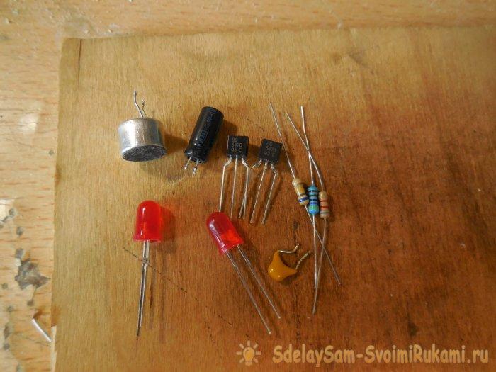 Светодиодная акустическая мигалка