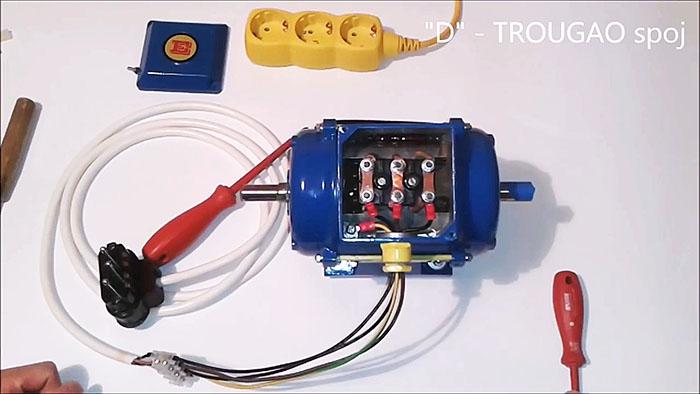 Подключение трехфазного электродвигателя к однофазной сети