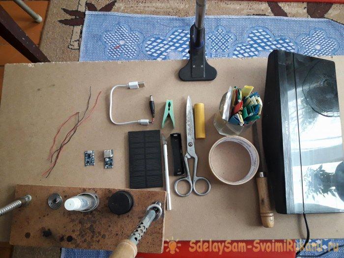 Автономное питание для антенны с усилителем от солнечной батареи