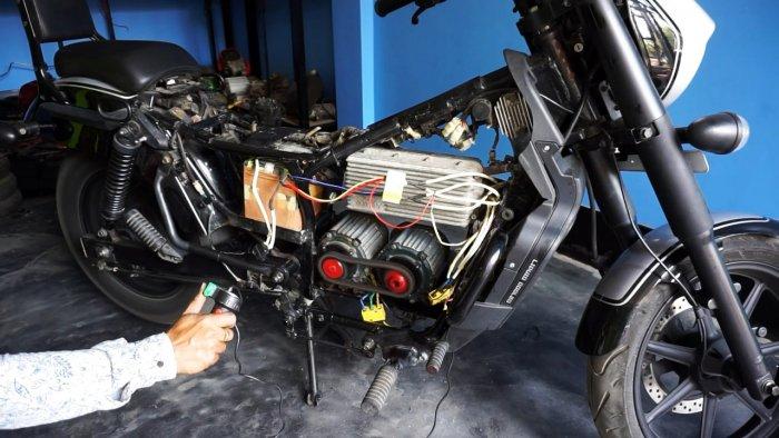 Как переоборудовать мотоцикл в электробайк развивающий скорость 80 кмч